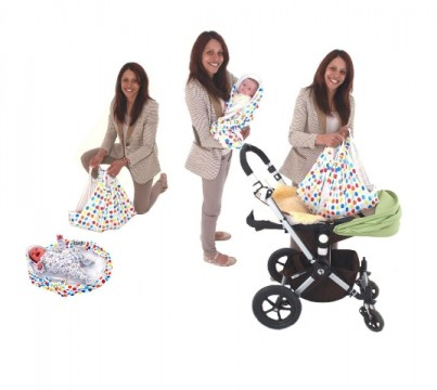 Lifts into and out of Car seats, pushchairs, carry-cots, and prams.