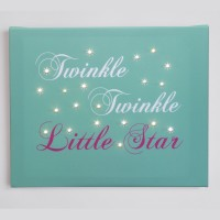 Illuminated Canvas Twinkle Twinkle Little star