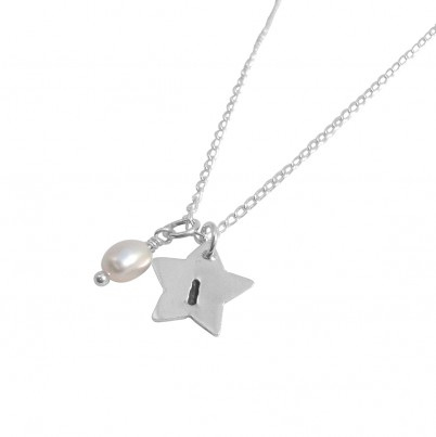 Personalised Childrens Initial Star Necklace