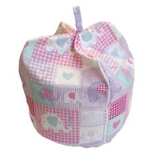 "Toddler ""bean bag syle"" cushion in PINK ELEPHANT design - not on the High Street - ideal gift for toddler"