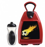 Red lunchbox with football