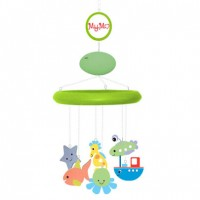 MyMo: Baby mobile with MP3 player and voice recorder (Green wood with
