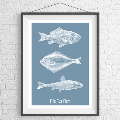 Fish Trio Blue