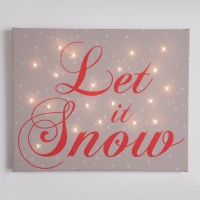 Let it snow Illuminated Canvas Night Light
