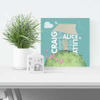 Family Home Personalised Canvas