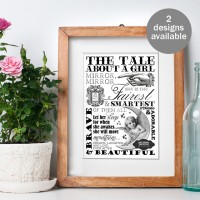 Word Art personalised typography print