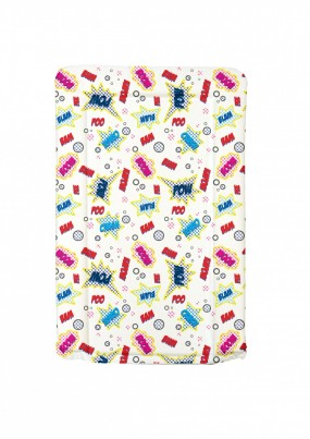 SUPER HERO  themed changing mat -  PINK / GIRL