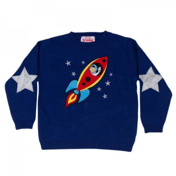 Space Cadet Knitted Jumper By Groovy Kids