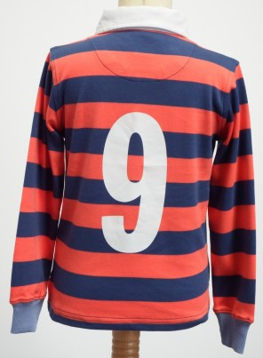 Sheringham Point Rugby Shirt - Salmon and Buoy Blue
