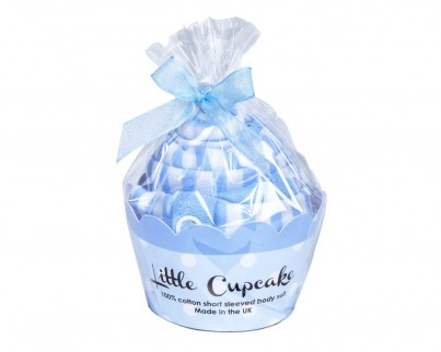 Little Cupcake Bodysuit - Blue Star