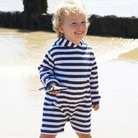 Navy/White Stripe Baby Toddler Romper Suit