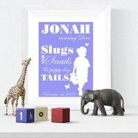 Slugs & Snails Personalised Name Print