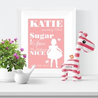 Sugar & Spice Personalised Name Print