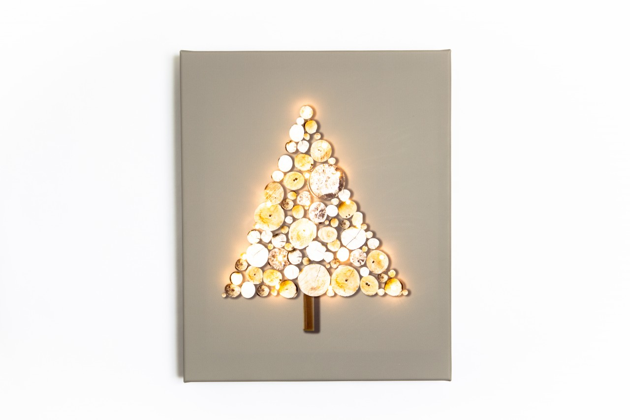 Illuminated Canvas Christmas Tree Night Light
