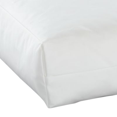 BUDGET COT BED  FOAM MATTRESS 139 x 69 x 7.6 cm with corovin cover  - fits most Mamas & Papas junior beds (CM400)