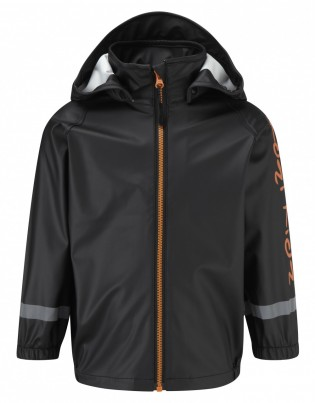 Koster Rain Jacket Unlined Black/Orange
