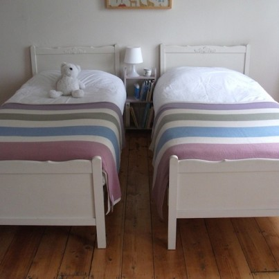 Large Lambswool blankets on Beds