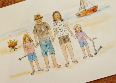 Personalised Family Watercolour