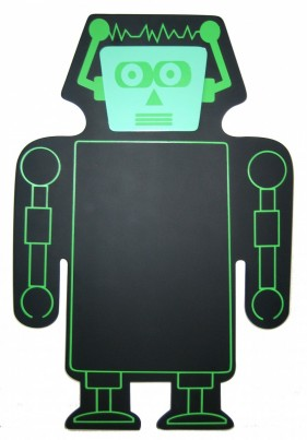 Childrens Wall Mountable Blackboard - Robot