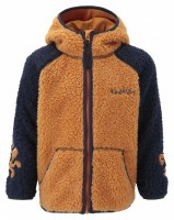 KoziBear Pouch Zip Up Hooded Softpile Orange/Navy