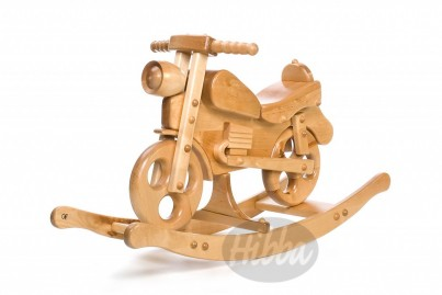 Easy Ride Wooden Rocking Motorbike