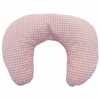 Multi Purpose Nursery & Feeding Cushion - PINK GINGHAM design