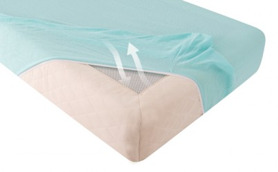 PURFLO ORGANIC COTTON FITTED SHEET 120CM X 60CM