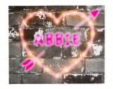 Graffiti Heart - Personalised Illuminated Canvas