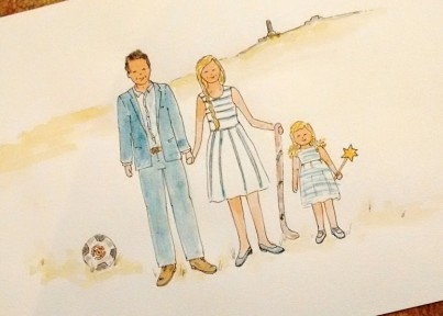 Family Personalised Watercolour Painting