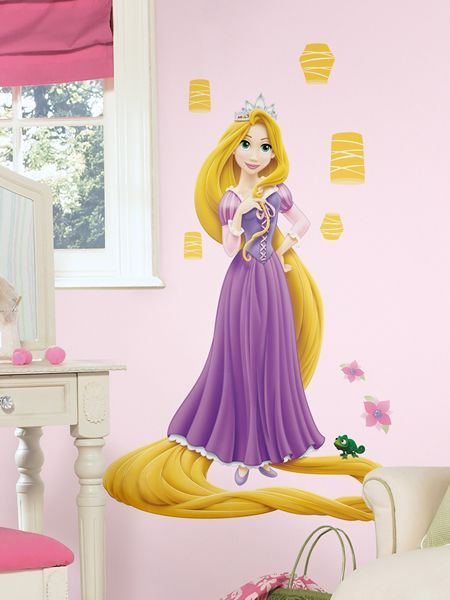 Wall stickers princess wall decal disney tangled for Disney princess wall mural stickers