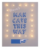 'Man Cave' This Way Illuminated Canvas