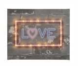 Neon Love - Illuminated Canvas Night Light