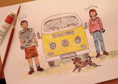 Personalised Painting with Campervan