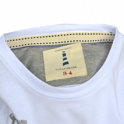Monkstone Tee in White/Grey