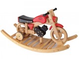Combi Trainer Rock & Ride on Wooden Bike - Colour