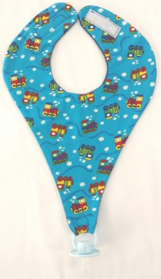 Blue. Choo choo train dummy bib