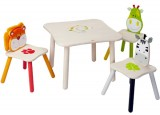Safari Animal Table with 3 Chairs