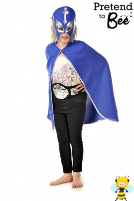 Wrestling Hero    Polyester bi-stretch cape, elasticated printed mask, printed championship belt with velcro fastening.  For all those WWE fans out there!  Also doubles up as a fantastic Superheroes Outfit.  Quick and Easy Dressing Up