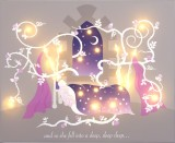 'Sleeping Beauty' design Illuminated canvas