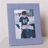 Babyface Blue Gingham Photo Frame