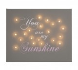 You Are My Sunshine - Illuminated Canvas Night Light