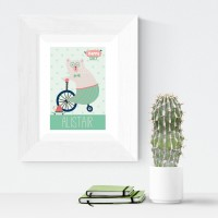 Happy Day personalised poster nursery print wall art
