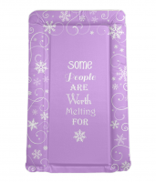 Disney FROZEN themed baby changing mat in purple / lilac IDEAL BABY SHOWER GIFT