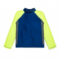 UFO Yellow Solid Long Sleeve Swim Shirt