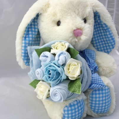 Bunny Baby Boy Bouquet