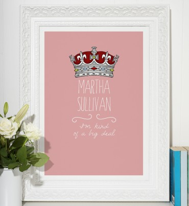 """""""I'm Kind of a Big Deal"""" - personalised word art poster print"""
