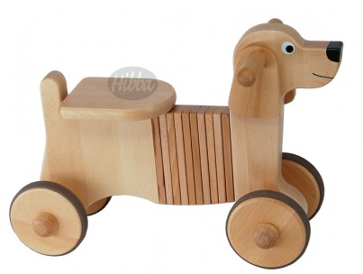 Combination Wooden Rock & Ride on Dog