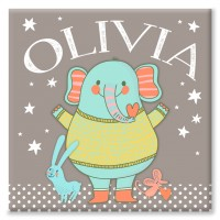 Elephant Friends Personalised Canvas