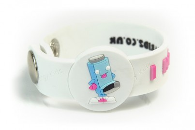 """I Have Asthma"" Awareness wristband (Pink Girl)"