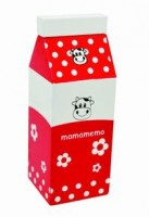 Wooden Red Milk Cartons (2 pieces)
